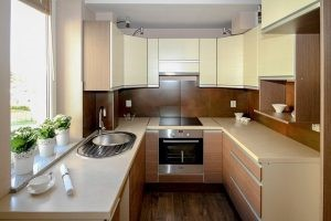 The spotless and attractive kitchen