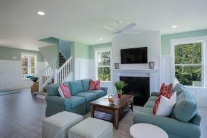 A nice-looking interior of a home, ready for renting.