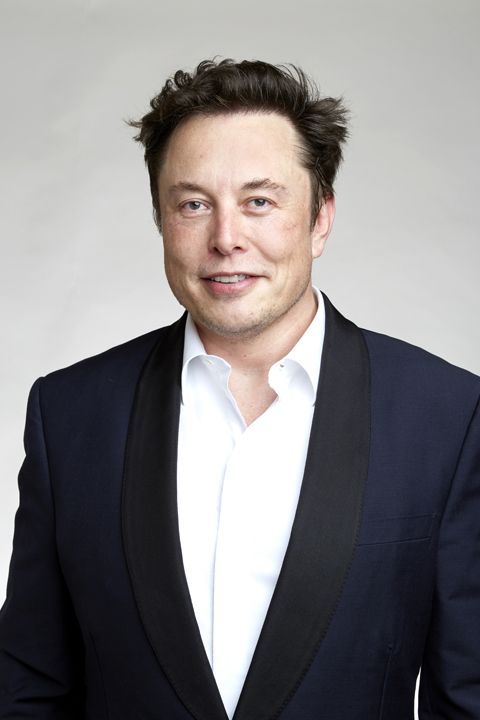 Picture of Elon Musk wearing a jacket